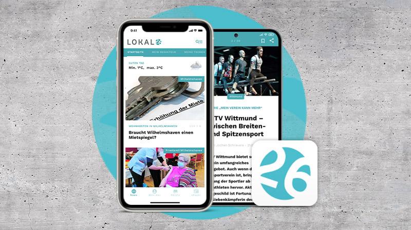 Neue Lokal26-App für Smartphones